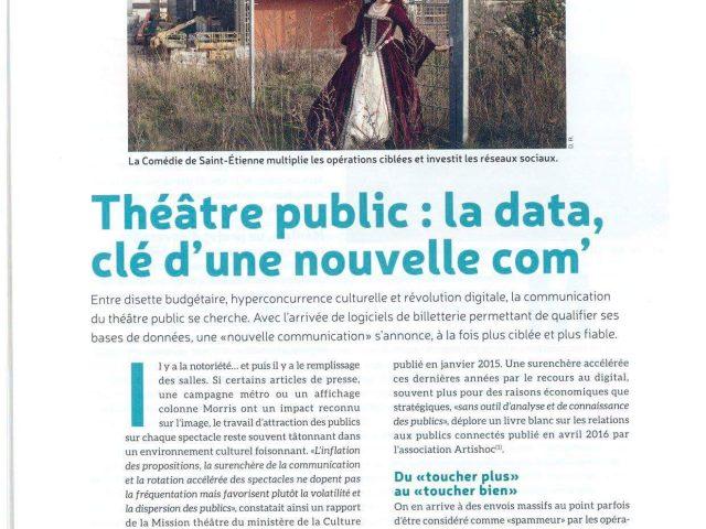 Théâtres publics : ladata, clé d'une nouvellecom