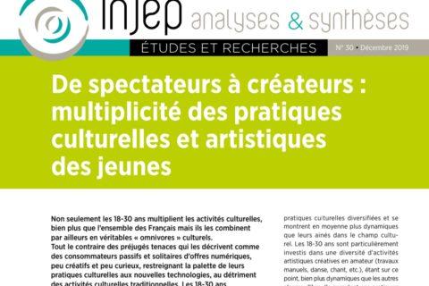 De spectateurs à créateurs : multiplicité des pratiques culturelles et artistiques des jeunes